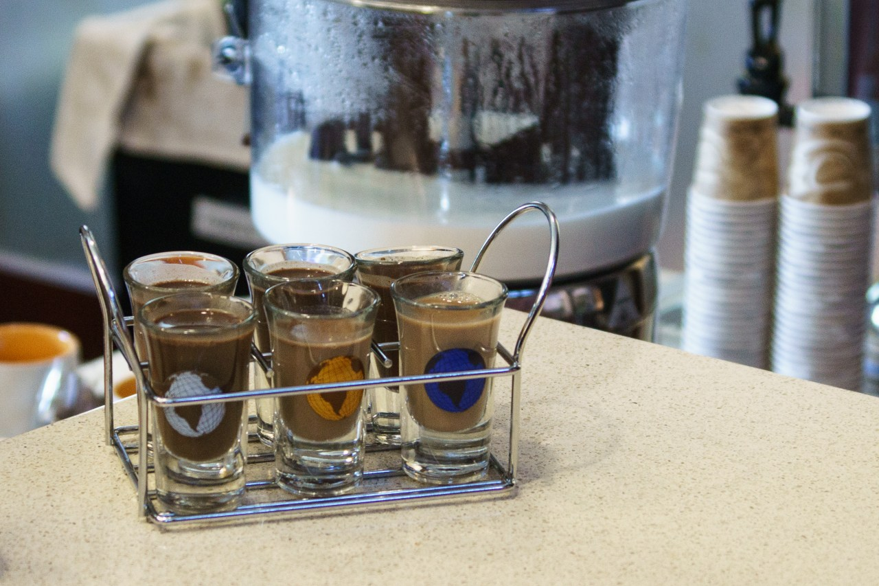 Chocolate tasting at the Hershey museum in Hershey, PA