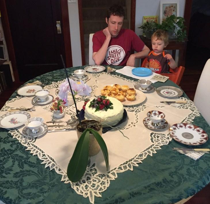 Table set for high tea