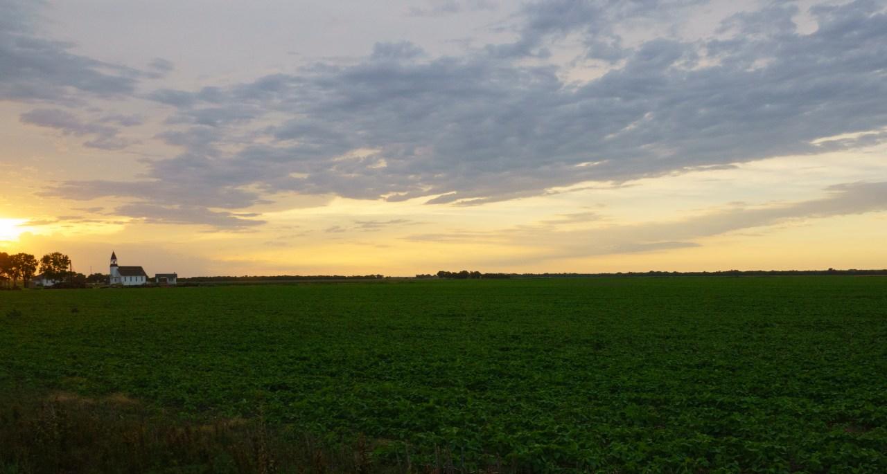 Kansas prairie in Salina