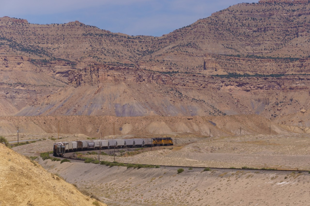 Small freight rounding the curve