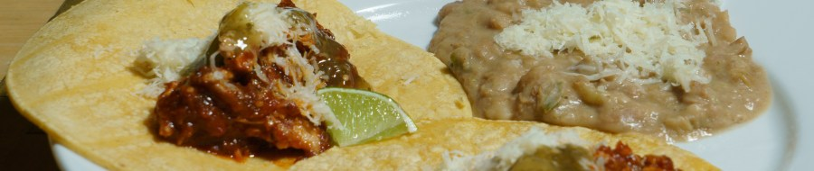 Chicken Tinga and Refried Beans Par Excellence