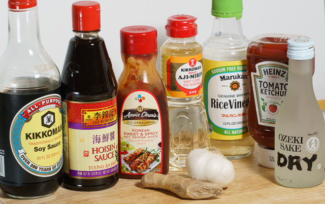 Korean-Style chicken thighs sauce ingredients