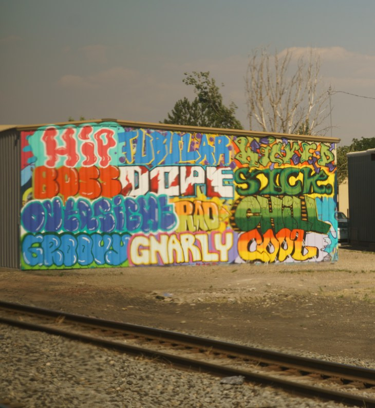 Graffiti shed near Grand Junction, Colorado