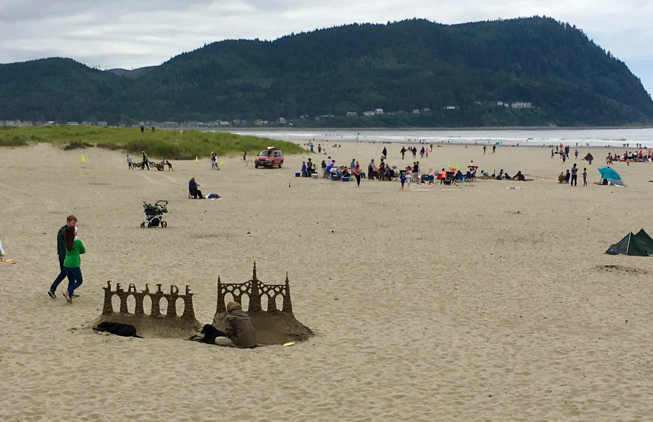 Sand sculpture at Seaside, Oregon