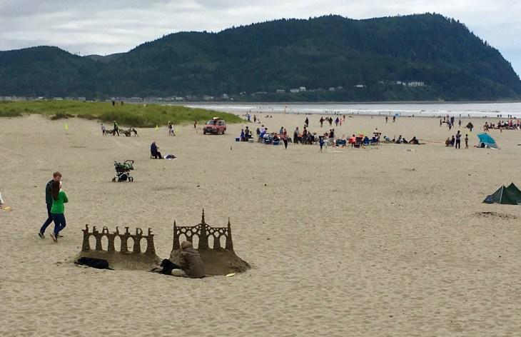 Sand sculpture at Seaside, Oregon