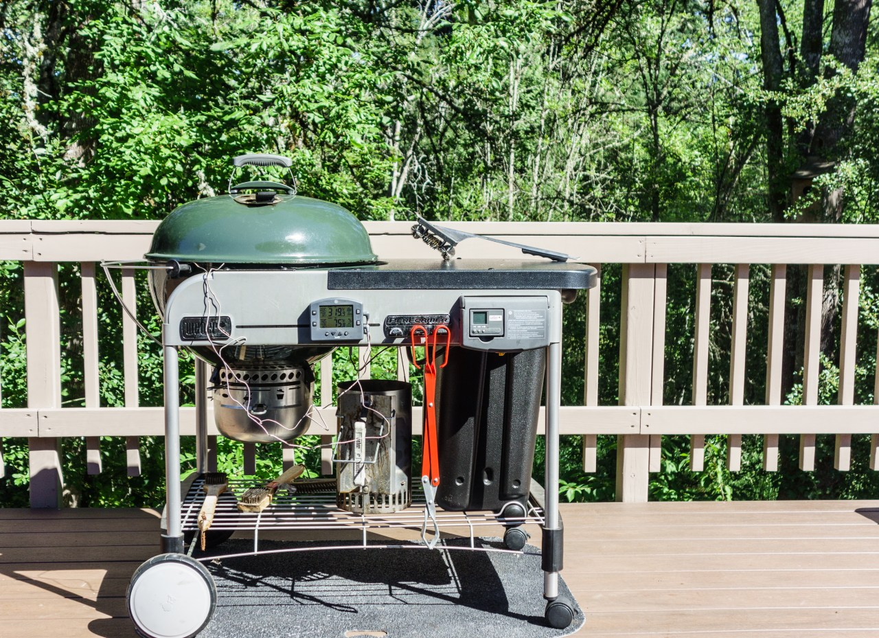 Grilling on the back deck