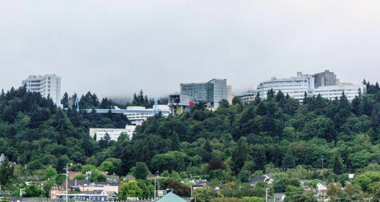 OHSU campus in the Portland West Hills
