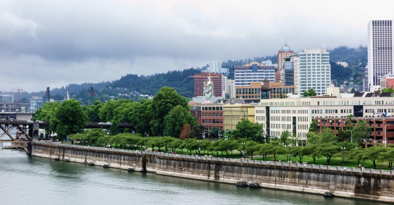 Portland Waterfront from the Steel Bridge