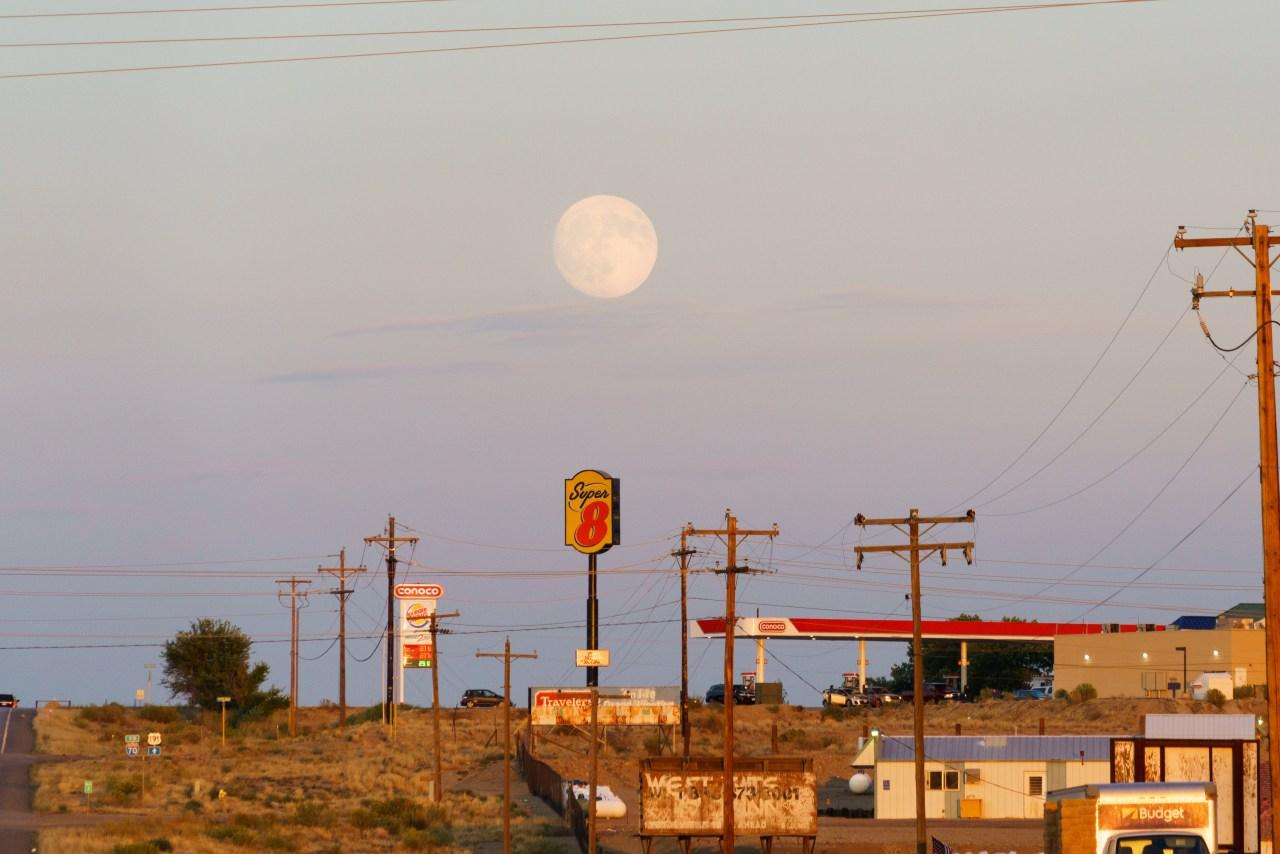 Moon rise over Green River, Utah