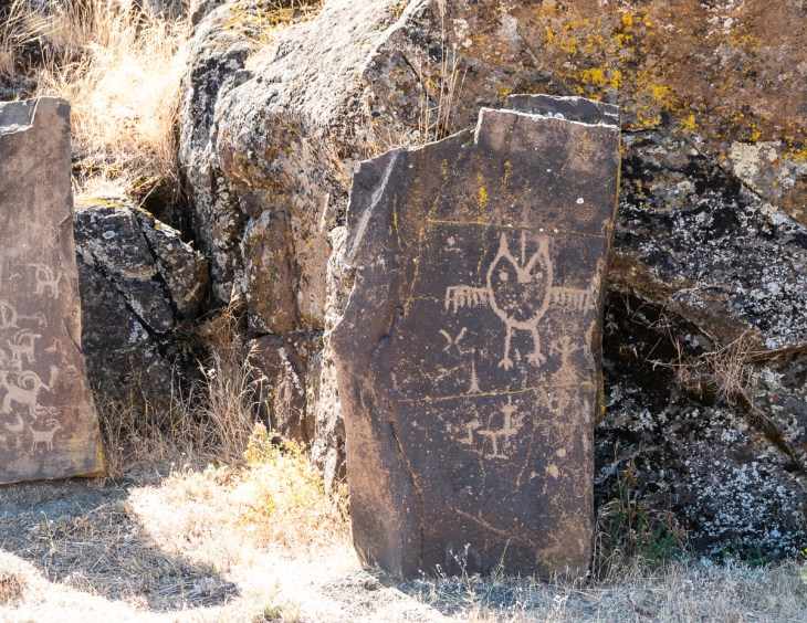 Petroglyphs at Columbia Hills Historical State Park, WA. Columbia Gorge
