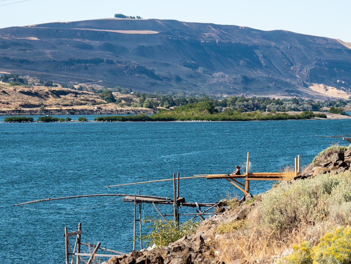 Fishing platforms near John Day Dam