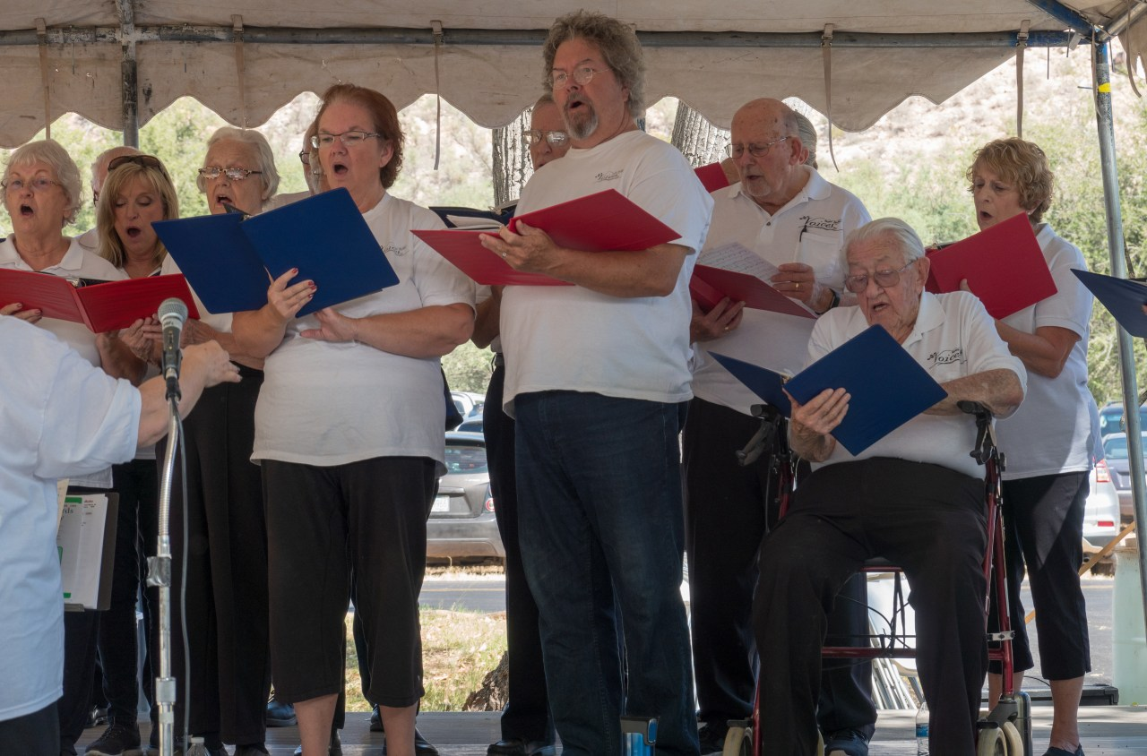 Verde Valley Voices singing at Verde Valley Day