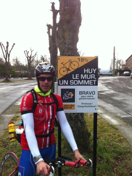 Direction le Mur de Huy en contre la montre 2fortri julien triathlète