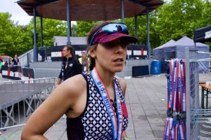 Ironman 70.3 Luxembourg région Moselle 2018 finish line iron girl 2fortri