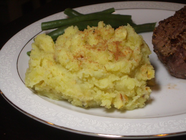 Mashed White Sweet Potatoes