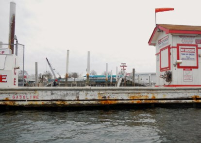 "The sign says ""Dock and Dine Only""… the only diners here were gulls dropping shellfish onto the dock to break them open."