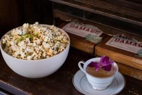 Hurricane Popcorn and Jefferson Clarified Milk Punch