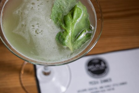 Cucumber Basil Martini at Wink 24 2geekswhoeat.com #cocktails #Phoenix