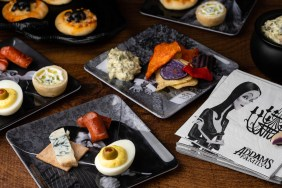 Inspired by The Addams Family, The Geeks have put together a guide for turning pre-made food into spooky appetizers in a snap! 2geekswhoeat.com #HalloweenParty #Halloween #HalloweenPartyIdeas #TheAddamsFamily #PartyIdeas #Appetizers
