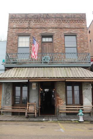 Mark Twain Guesthouse som vi bodde pa i Natchez. Vart rum med balkongen.