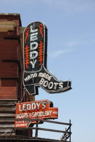 En klassisk cowboy wear store i Fort Worth