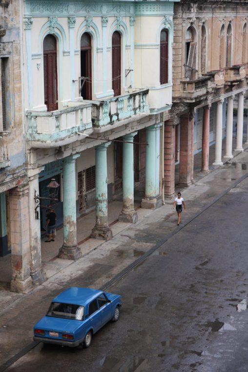 Utsikt från balkongen där vi bor
