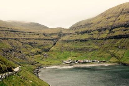 Utsikt mot Tjørnuvík
