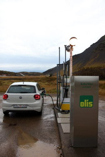 En avskilt belägen bensinstation