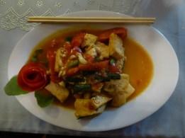 tofu sauté aux tomates