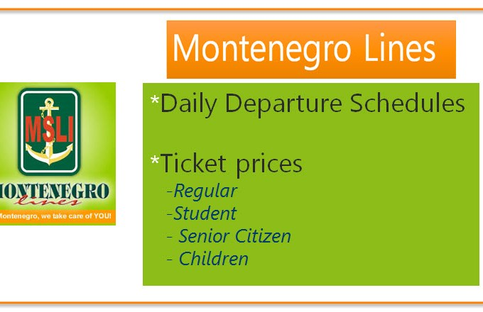 Montenegro Lines Daily Trip Schedules, Routes, and Boat Fare