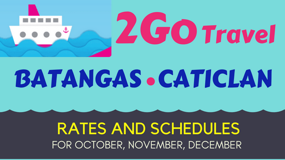 Batangas to Caticlan 2Go Rates Schedules