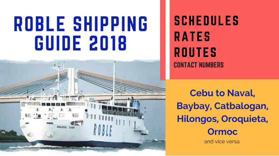 ROBLE SHIPPING GUIDE 2018 - rates, schedules, routes