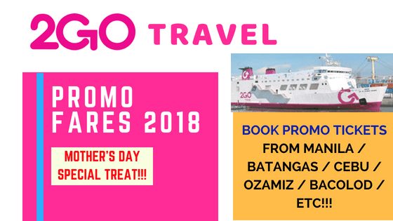2GO TRAVEL PROMO TICKETS FOR JULY, AUGUST, SEPTEMBER 2018