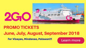 2go PROMO 2018 Visayas, Mindanao, Palawan