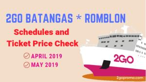 2go schedule and fare batangas romblon 2019