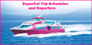 2Go SuperCat Ferries 2016 Daily Trip Schedules and Departures