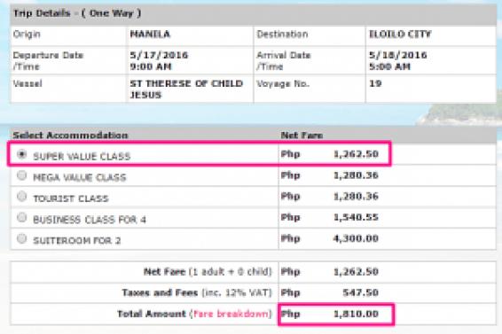 Manila to Iloilo May2026 Ticket Price