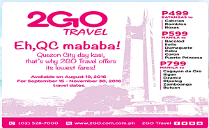 2Go Travel Promo Tickets for QC Day Celebration