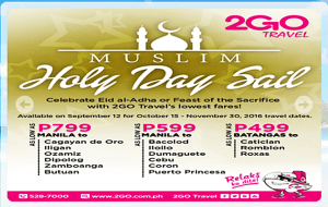 2Go Travel Superferry Eid El Adha Promo Boat Tickets