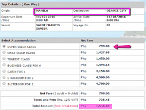 manila_to_ozamiz_superferry_promo_fare