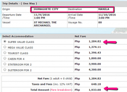 dumaguete_to_manila_november_ticket_rate