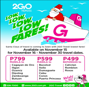 2Go Travel Superferry Promo Ticket January-March 2017