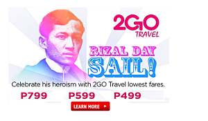 2Go Travel as Low as P499 Rizal Day Holiday Promo