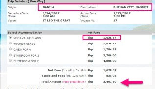 Manila-to-Butuan-February-2017-Superferry-Ticket-Price