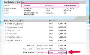Manila-to-Dipolog-2Go-Ticket-Rate-February-2017