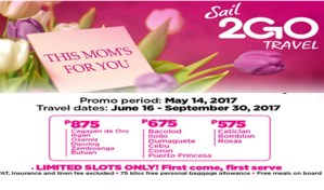 2Go Travel Mother's Day Promo Fare June-September 2017