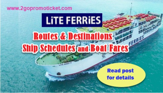 Lite Ferries Destinations, Ship Schedule and Ticket Prices