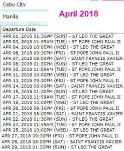 Superferry Boat Trips Cebu to Manila