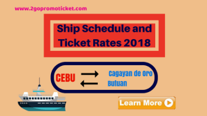 Ship Schedule & Boat Fares Cebu to/ from Butuan and Cagayan De Oro