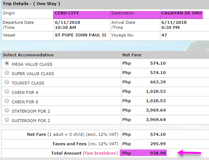 cebu-to-cagayan-de-oro-ticket-price-2go